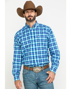 Ariat Men's Bennett Team Plaid Logo Long Sleeve Western Shirt - Big , Multi, hi-res