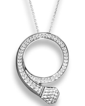 Kelly Herd Women's Silver Pave Nail Pendant Necklace , Silver, hi-res