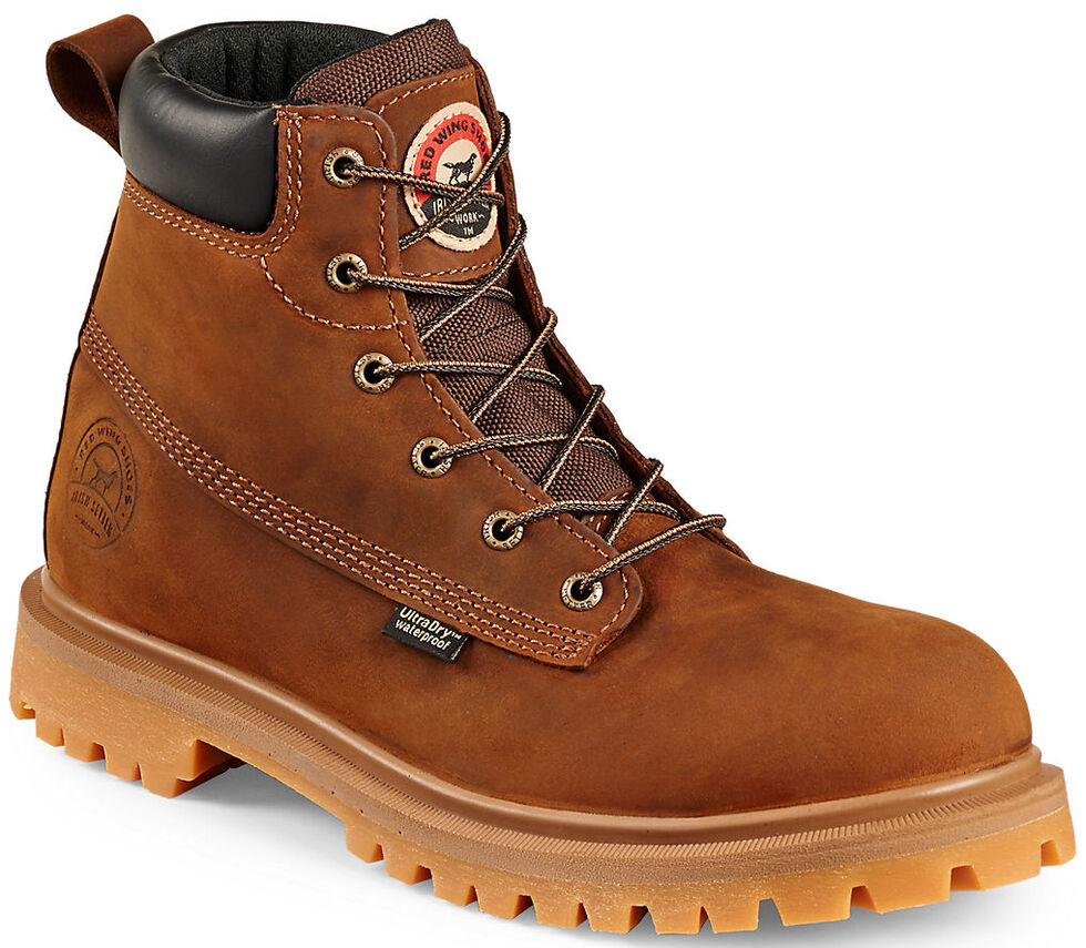 "Irish Setter by Red Wing Shoes Men's Hopkins 6"" EH Waterproof Work Boots - Aluminum Toe, Brown, hi-res"