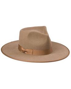 Lack Of Color Tan Teak Wool Felt Western Rancher Hat , Lt Brown, hi-res