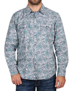 Cody James Men's Rodeo Paisley Long Sleeve Shirt - Tall , Grey, hi-res