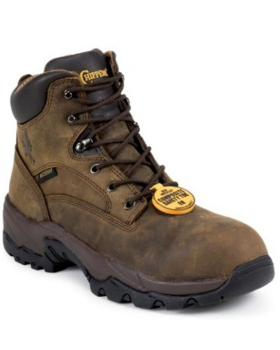 "Chippewa Waterproof Bay Apache 6"" Lace-Up Work Boots - Comp Toe, Bay Apache, hi-res"