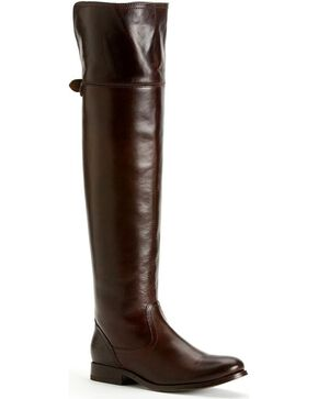Frye Women's Melissa OTK Riding Boots - Round Toe, Dark Brown, hi-res