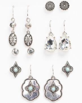 Shyanne Women's Bella Mini Concho 6 Pack Earring Set, Silver, hi-res