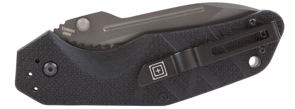 5.11 Tactical RFA Plain Assisted Opener Knife, Black, hi-res