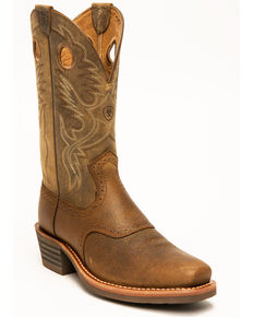 Ariat Men's Heritage Rough Stock Western Boots - Square Toe, Earth, hi-res