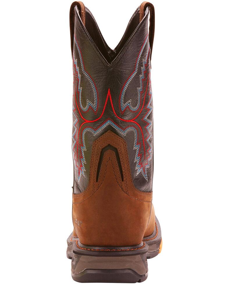 Ariat Men's Dark Brown Workhog XT H20 Boots - Wide Square Toe, Brown, hi-res