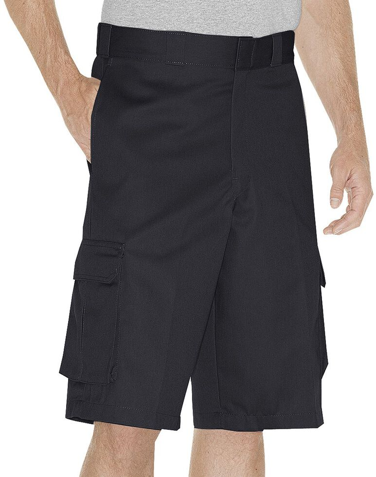 Dickies Twill Cargo Shorts, Black, hi-res