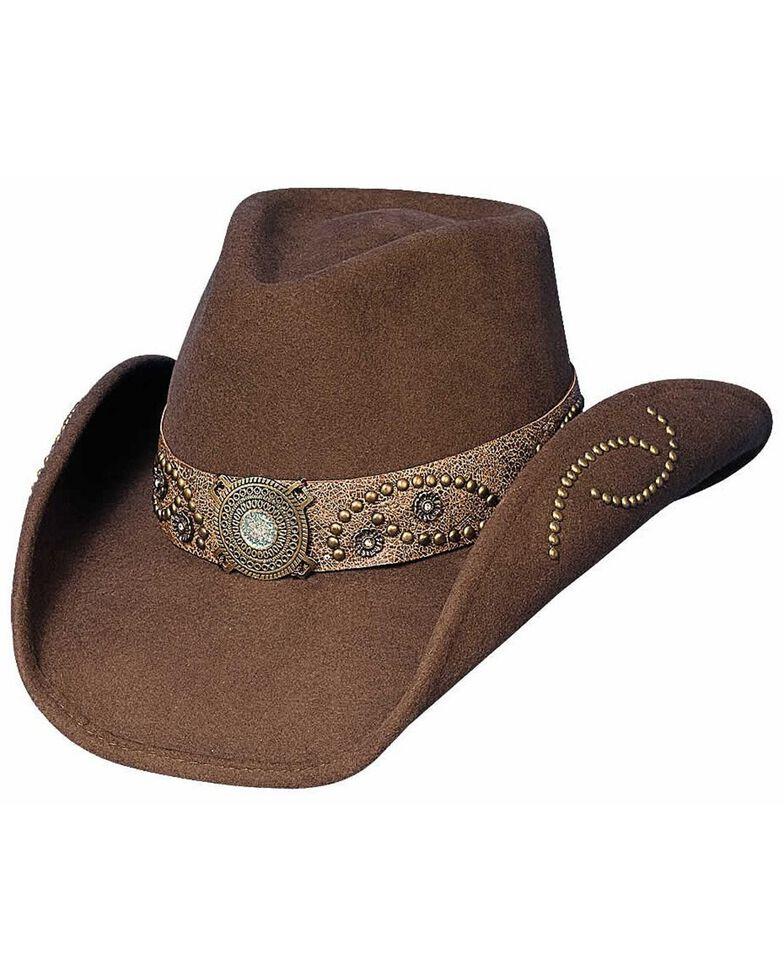 Bullhide Sheila Wool Cowgirl Hat, Chocolate, hi-res