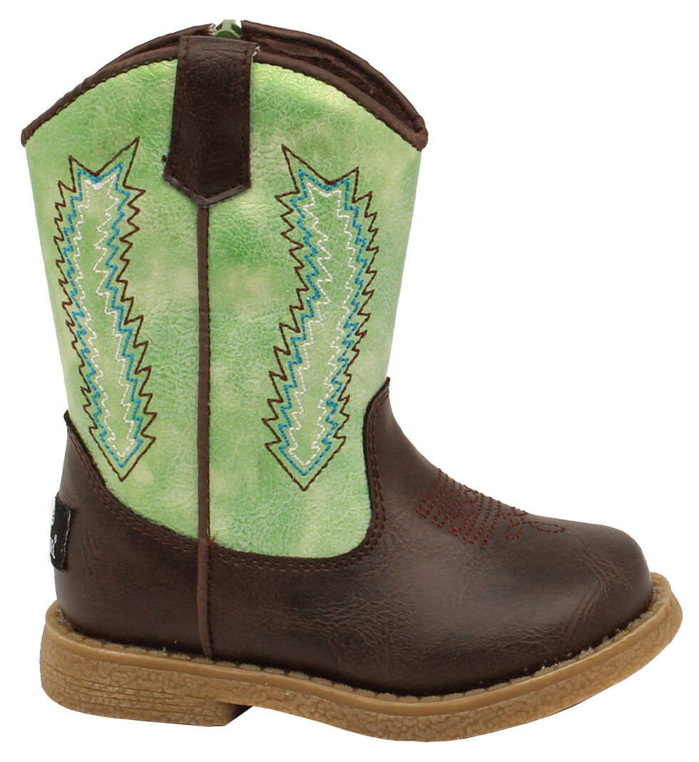 Double Barrel Toddler Boys' Lil' Wyatt Boots - Round Toe, Tan, hi-res