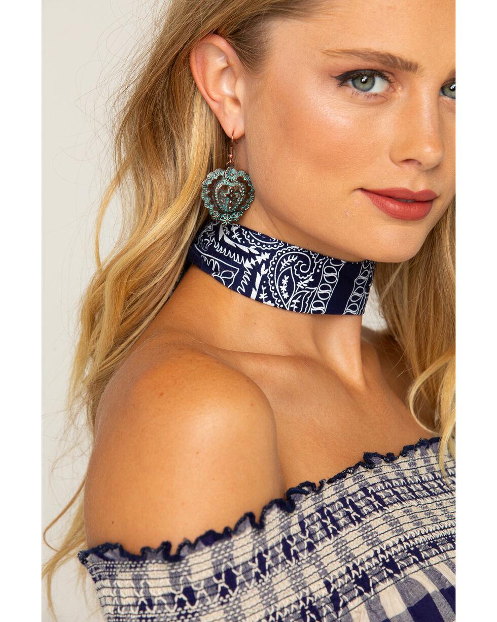 Shyanne Women's Navy Bandana Headwrap, Navy, hi-res