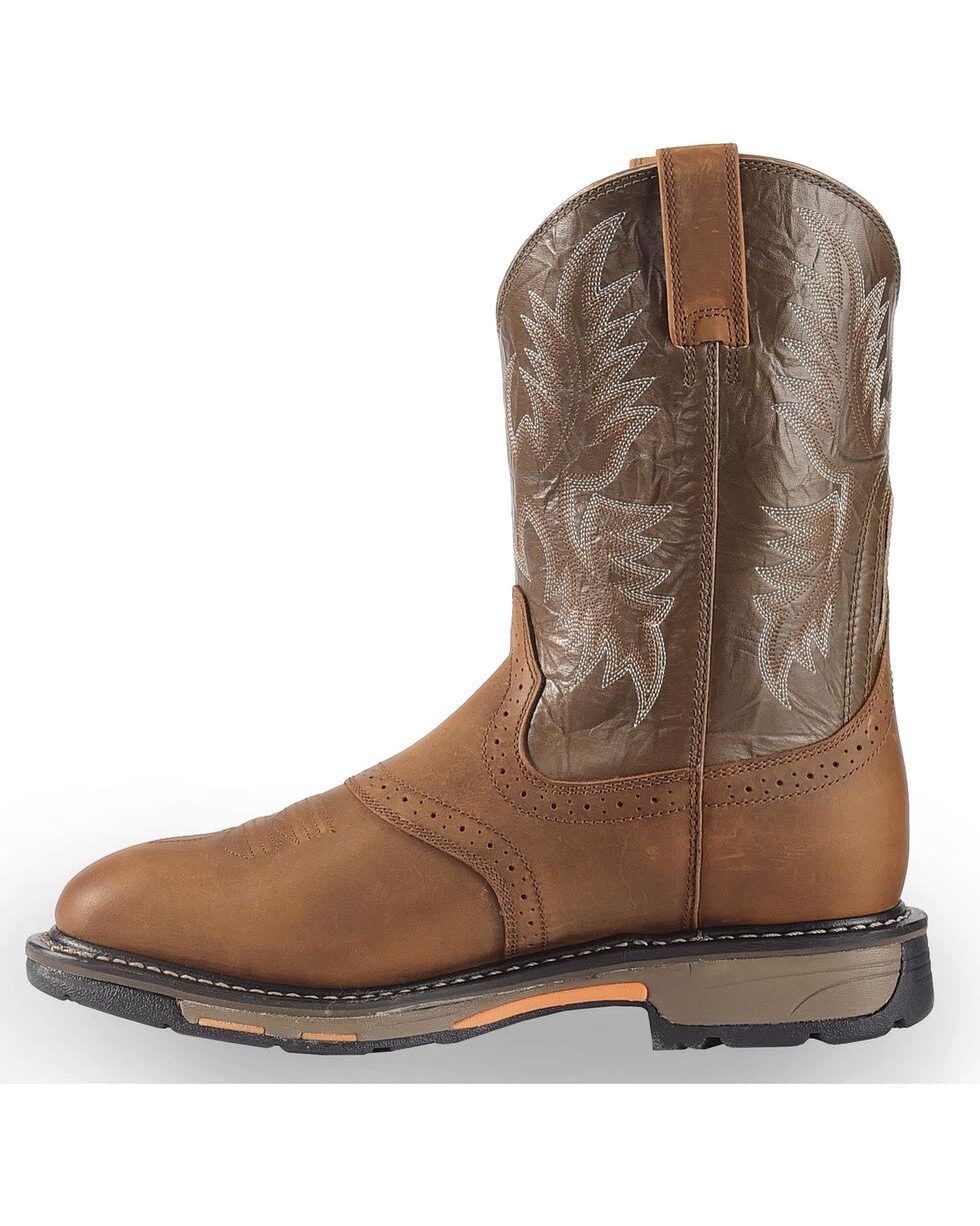Ariat Workhog Pull-On Work Boots, Bark, hi-res