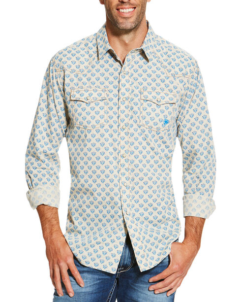 Ariat Men's Sage Chad Print Long Sleeve Shirt, Sage, hi-res