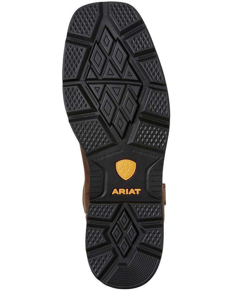 Ariat Men's Groundbreaker Western Work Boots - Steel Toe, Brown, hi-res