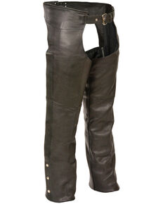 Milwaukee Leather Men's Fully Lined Classic Chaps - 3X, Black, hi-res