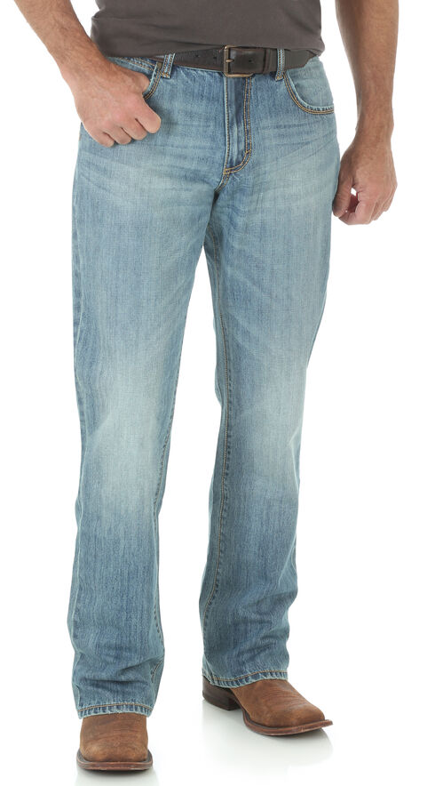 Wrangler Retro Relaxed Fit Light Wash Boot Cut Jeans, Indigo, hi-res