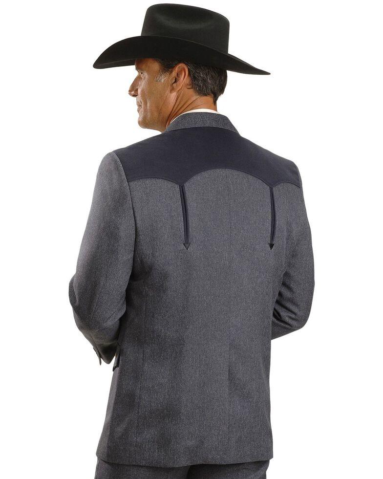 Circle S Boise Western Suit Coat - Short, Reg, Tall, Hthr Navy, hi-res