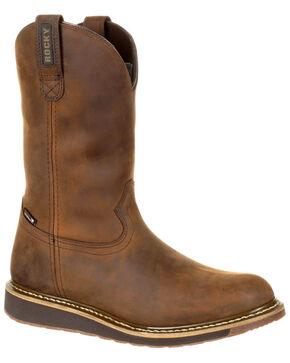 Rocky Men's Cody Waterproof Western Boots - Round Toe, Brown, hi-res