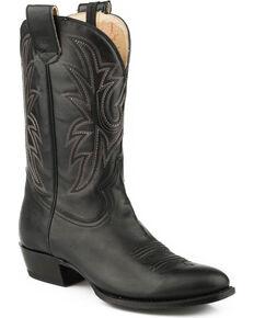 Roper Men's Sidewinder Conceal Carry Cowboy Boots - Narrow Round Toe, Black, hi-res