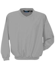 Tri-Mountain Men's Grey Windstar Microfiber Work Wind Jacket , Grey, hi-res