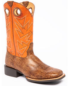 Cody James Men's Bison Xero Gravity Western Boots - Square Toe, Tan, hi-res