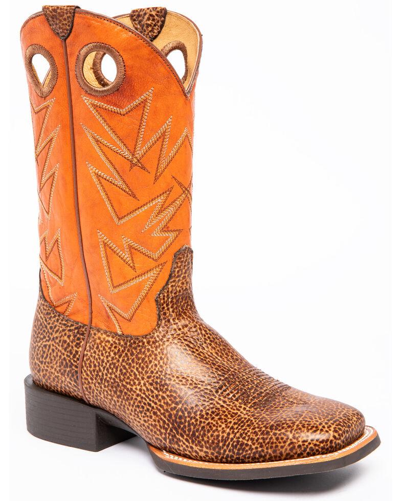 Cody James Men's Bison Xero Gravity Western Boots - Square Toe, Tan, hi-res