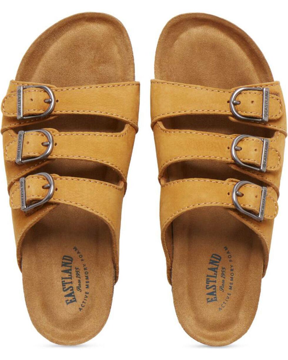 Eastland Women's Tan Faye Strap and Buckle Sandals , Tan, hi-res