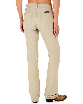 Wrangler Women's Ultimate Riding Q-Baby Khaki Boot Cut Jeans, Beige/khaki, hi-res