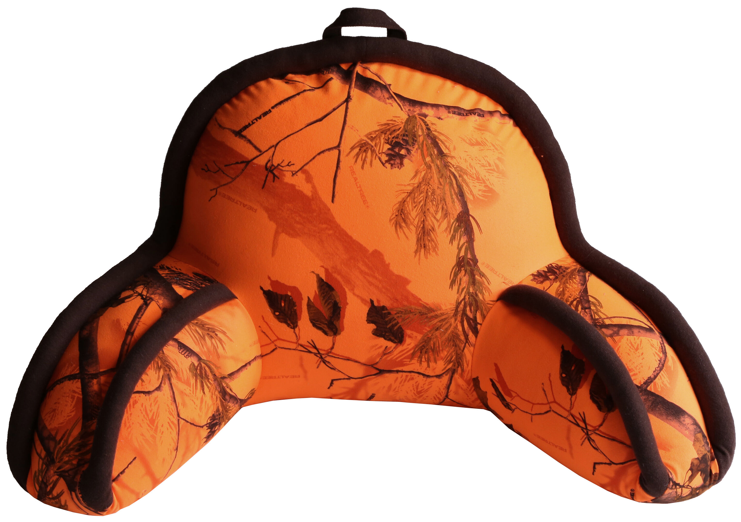 carstens home realtree blaze orange camo lounge pillow camouflage hires