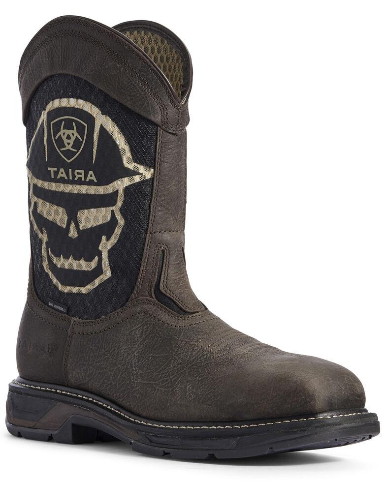 Ariat Men's Bold Workhog VentTEK Western Work Boots - Composite Toe, Brown, hi-res