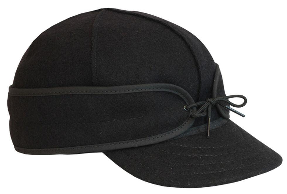 Stormy Kromer Men's Black Original Cap, Black, hi-res