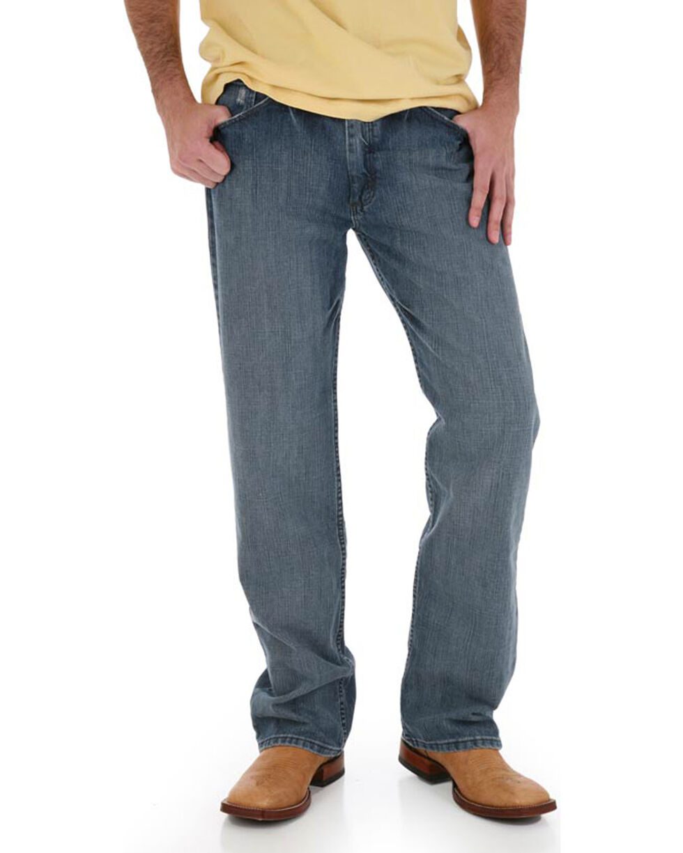 Wrangler Men's Blue 20X No. 33 Relaxed Straight Leg Jeans - Big, Blue, hi-res