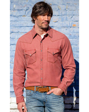 Ryan Michael Men's Distressed Waffle Shirt Bandana, Red, hi-res
