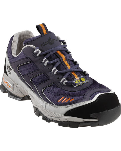 Nautilus Men's Blue ESD Athletic Work Shoes - Steel Toe, Blue, hi-res