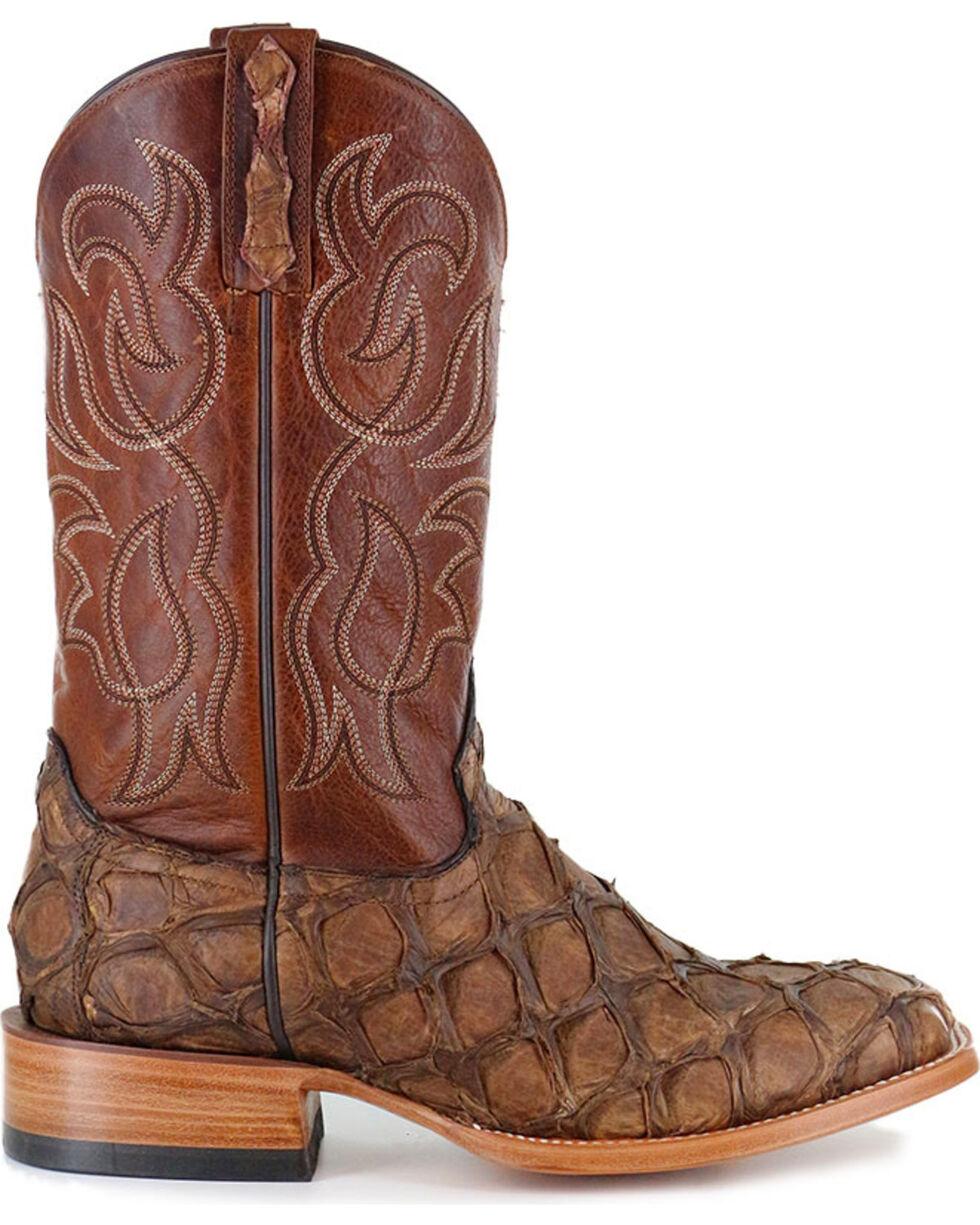 Cody James Men's Pirarucu Exotic Boots - Square Toe, Brown, hi-res