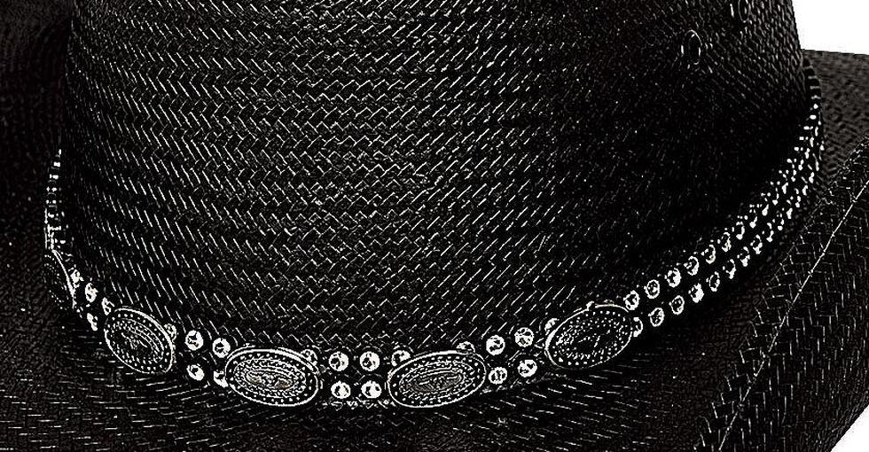Bullhide Roots & Wings Shantung Panana Straw Cowgirl Hat, Black, hi-res