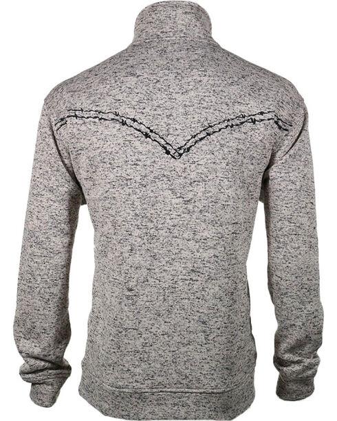 Cowboy Hardware Men's Heather Quarter Zip Sweater, Oatmeal, hi-res
