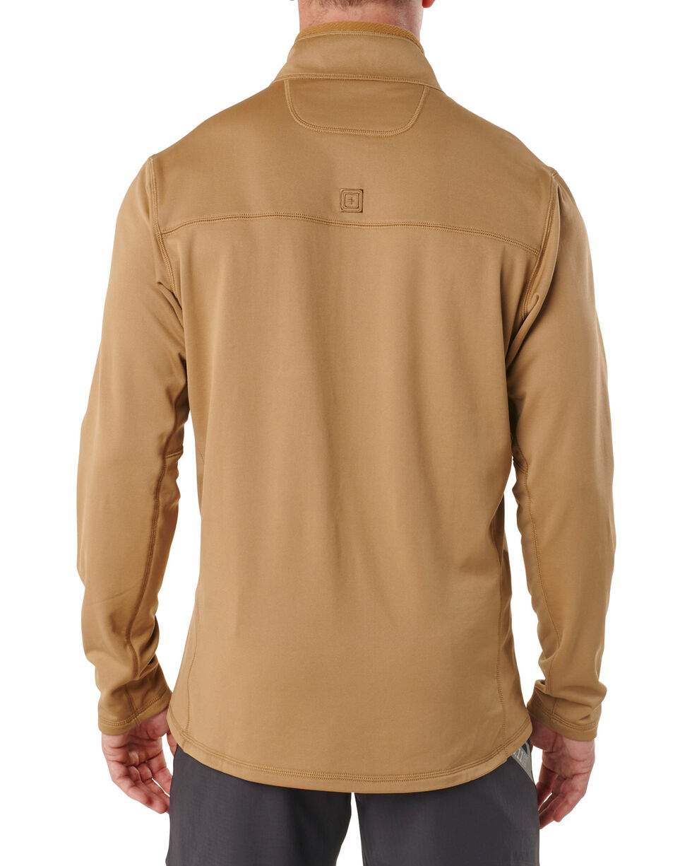 5.11 Tactical Tan RECON Half-Zip Fleece, Tan, hi-res