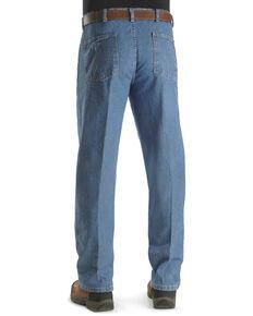 Wrangler Rugged Wear Men's Relaxed Long Angler Work Jeans - Big , Indigo, hi-res