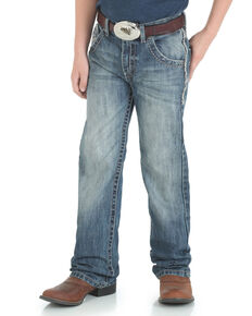 d98d5892 Wrangler 20X Boys No. 42 Vintage Low Slim Boot Jeans , Blue, hi-