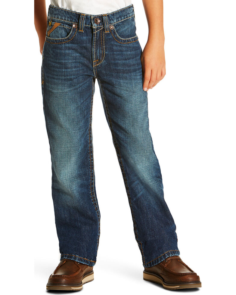 Ariat Boys' B5 Falcon Cyclone Jeans - Straight Leg , Indigo, hi-res