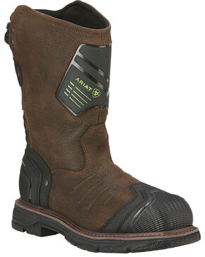 Ariat Men's Catalyst VX Work H20 Boots - Square Toe, Brown, hi-res