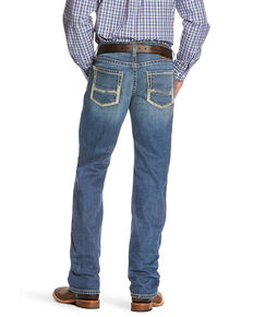 Ariat Men's M5 Nolan Slim Stackable Stretch Straight Leg Jeans - Big , Blue, hi-res