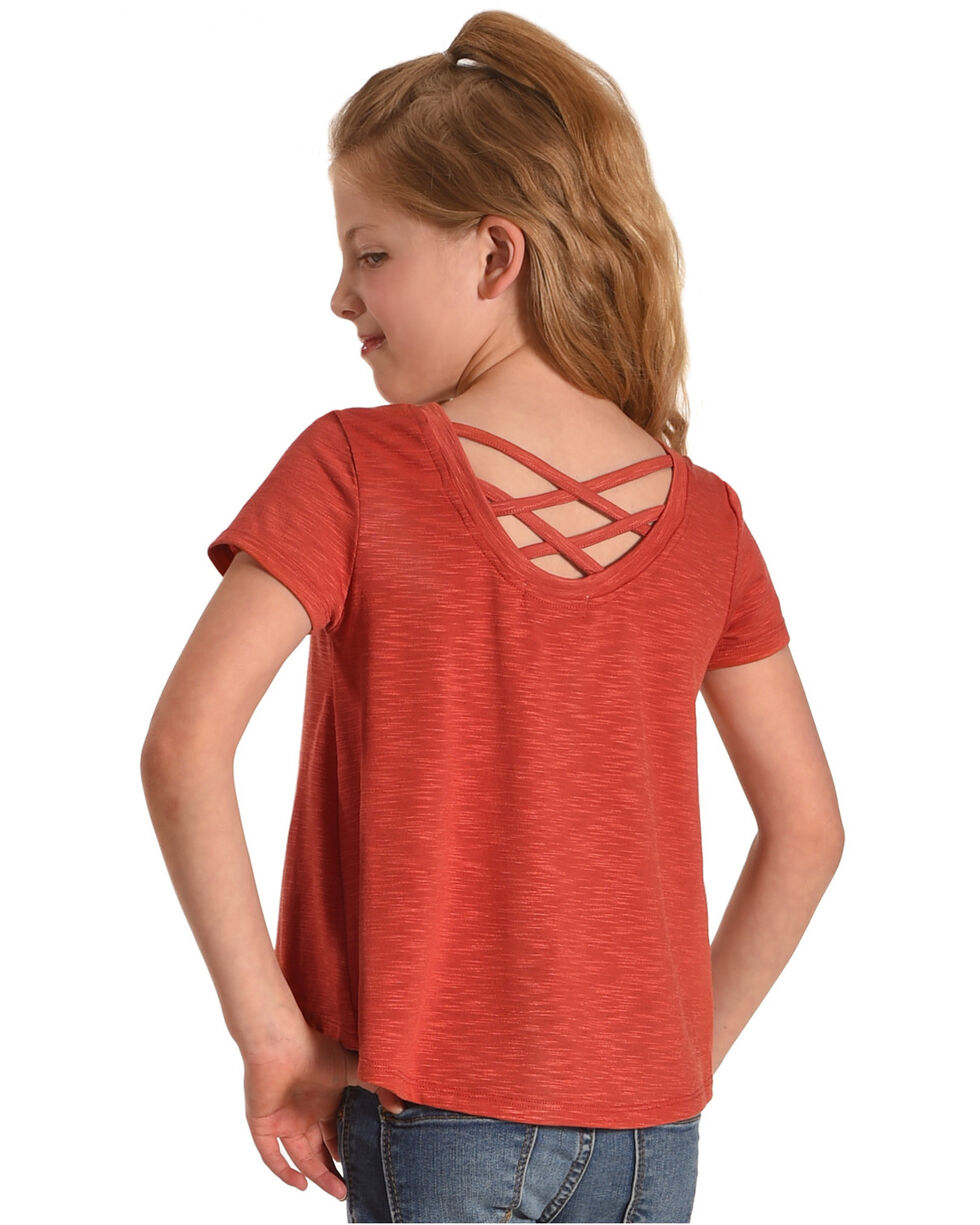 Idol Mind Girls' Free Spirit Tunic , Orange, hi-res