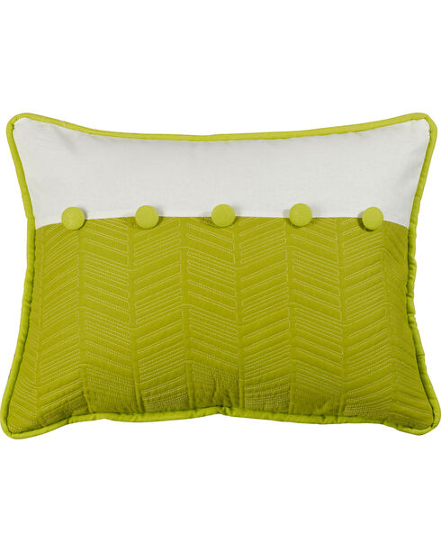 """HiEnd Accents Fern and Quilted Pillow, 16"""" x 21"""", Multi, hi-res"""