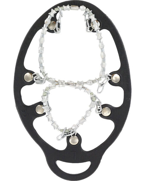 ICETrekkers Diamond Grip Snow & Ice Boot Chains, Silver, hi-res