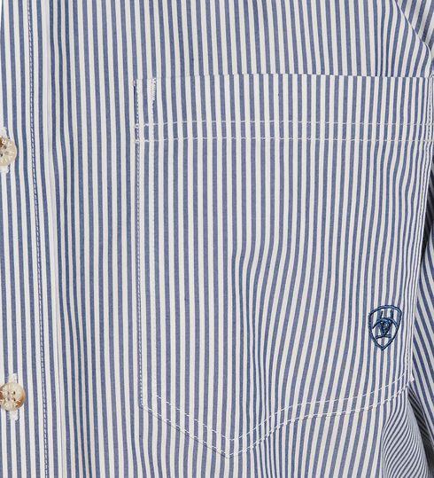 Ariat Balin Blue Striped Shirt, Light Blue, hi-res