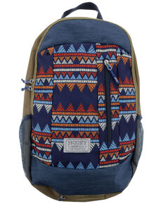 HOOey Rockstar Blue Zig-Zag Backpack, Red, hi-res