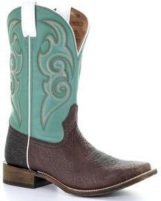 Corral Men's Tyson Money Maker Western Boots - Square Toe, Brown, hi-res