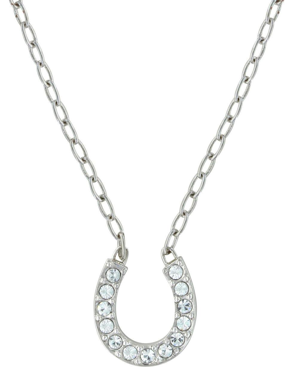 Montana Silversmiths Lucky Horseshoe Necklace, Silver, hi-res